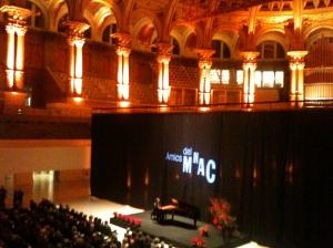 Fotografia del concert a la sala oval del MNAC