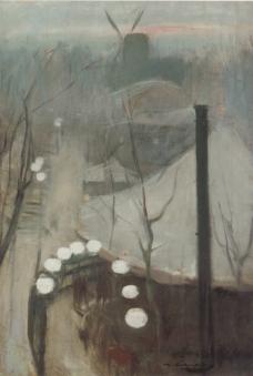 Montmartre. Ramon Casas. ca. 1890